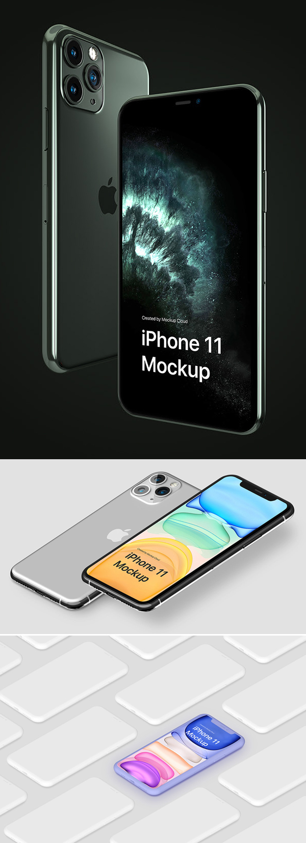 iPhone 11 Pro Mockup Kit + Freebie