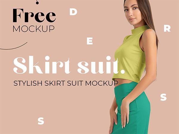 Free Skirt Suit Mockup