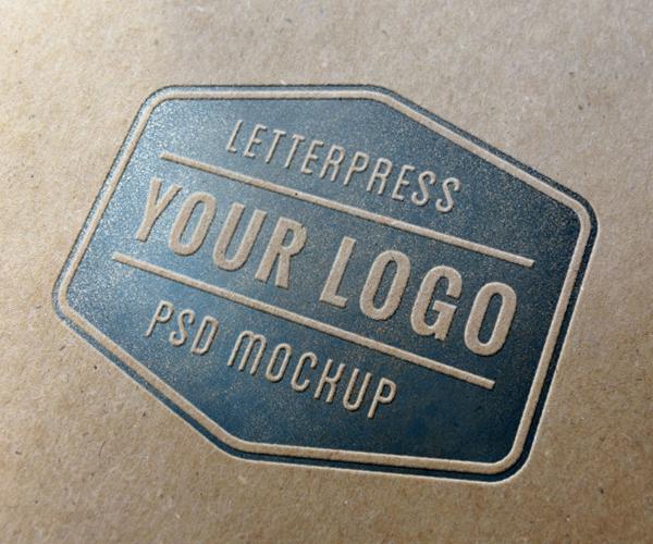 Letterpress Mockup PSD