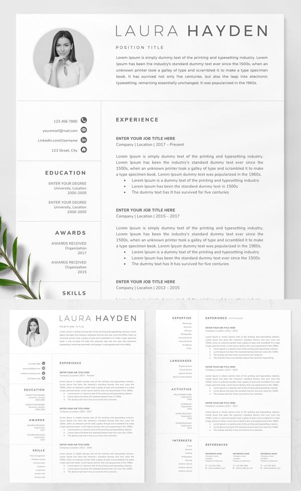 Elegant Resume Template / CV