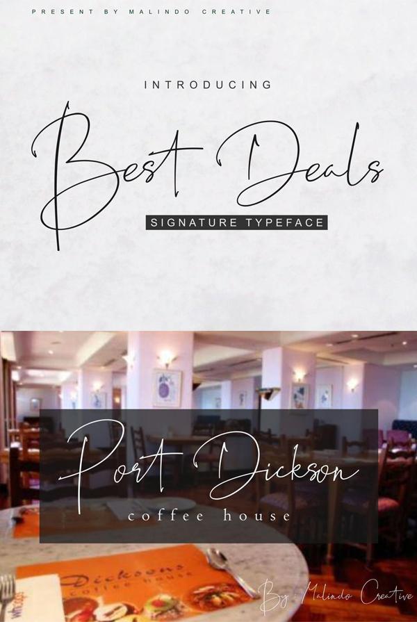 Best Deals Signature Free Font
