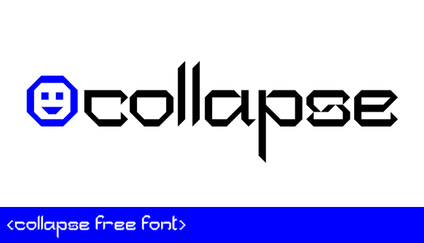 Collapse Free Font