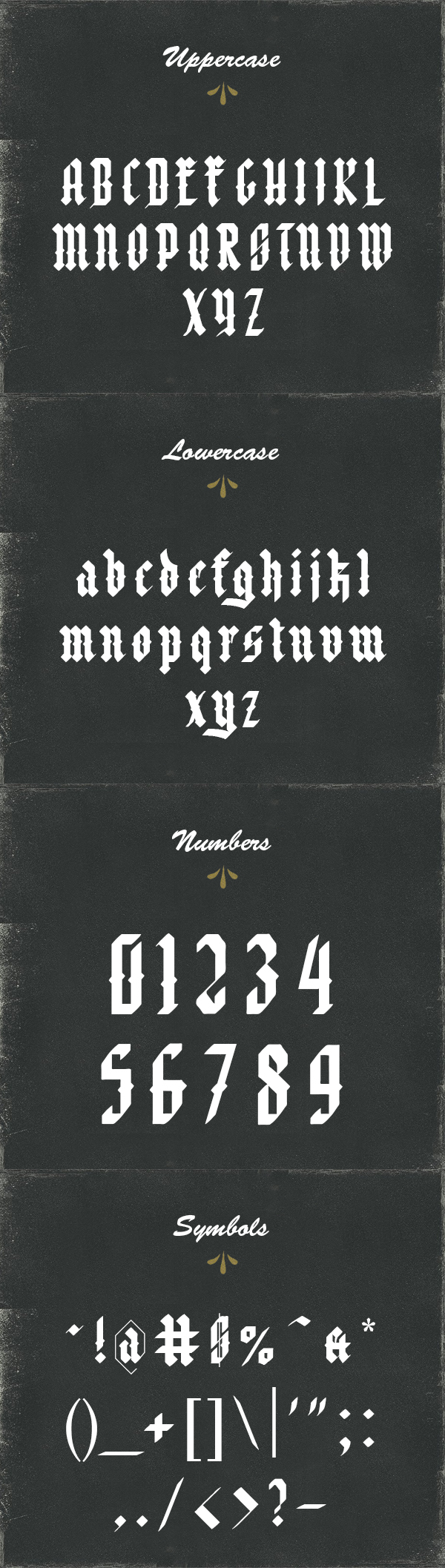Font Negra Font Letters
