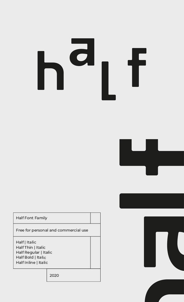 Half Free Font