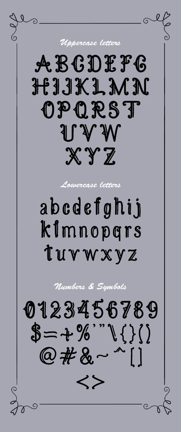 Kamandungan Font Letters