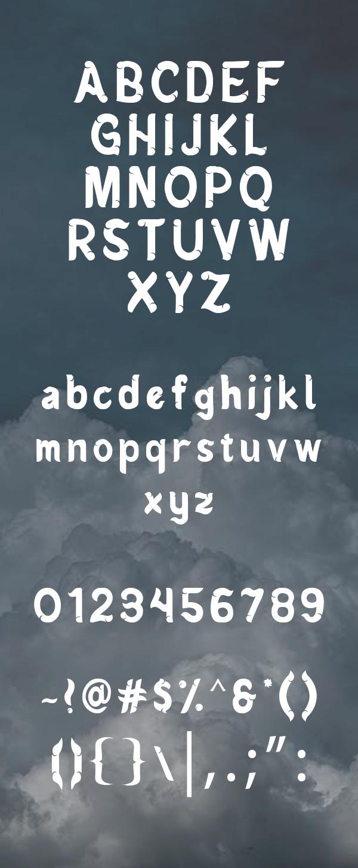 Mendung Font Letters