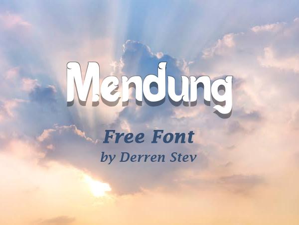 Mendung Free Font