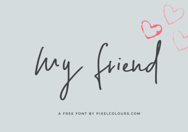 My Friend Handwritten Free Font