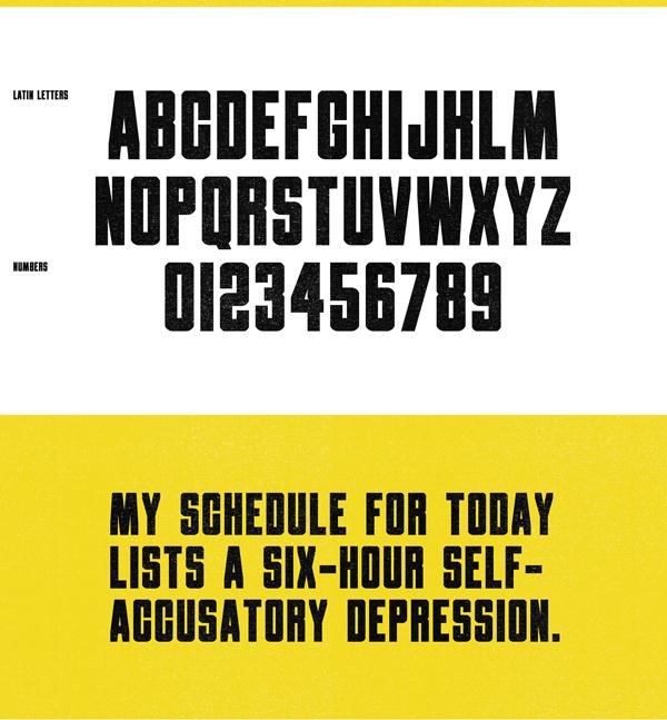 Obrazec Font Letters