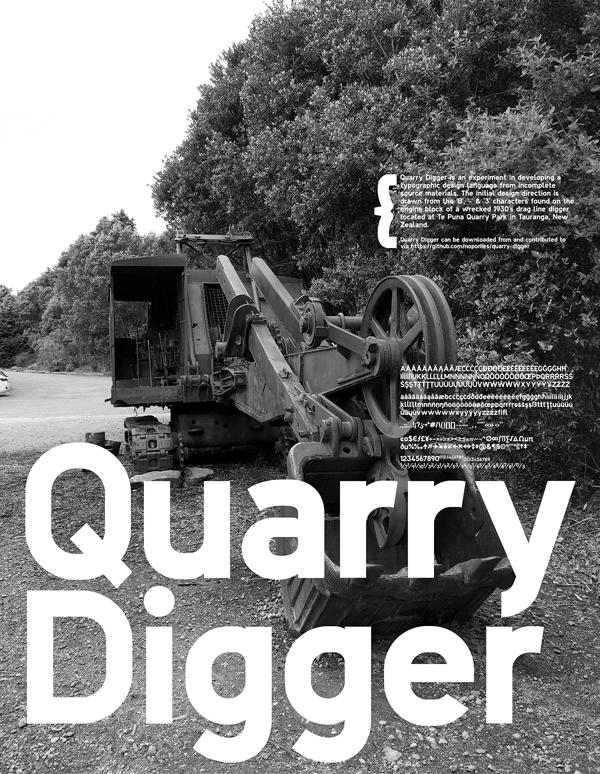 Quarry Digger Free Font