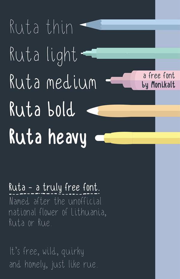 Ruta Handwritten Free Font