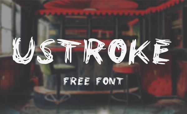 Ustroke Rough Free Font