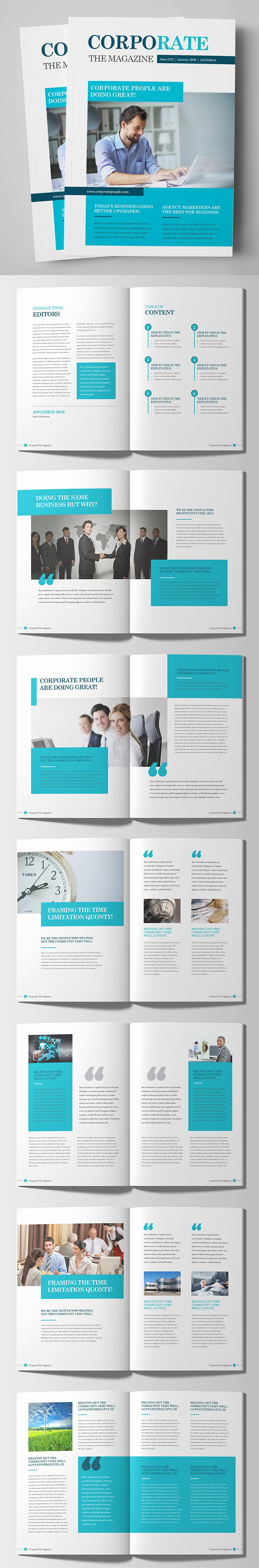 Corporate Business Magazine Brochure Template