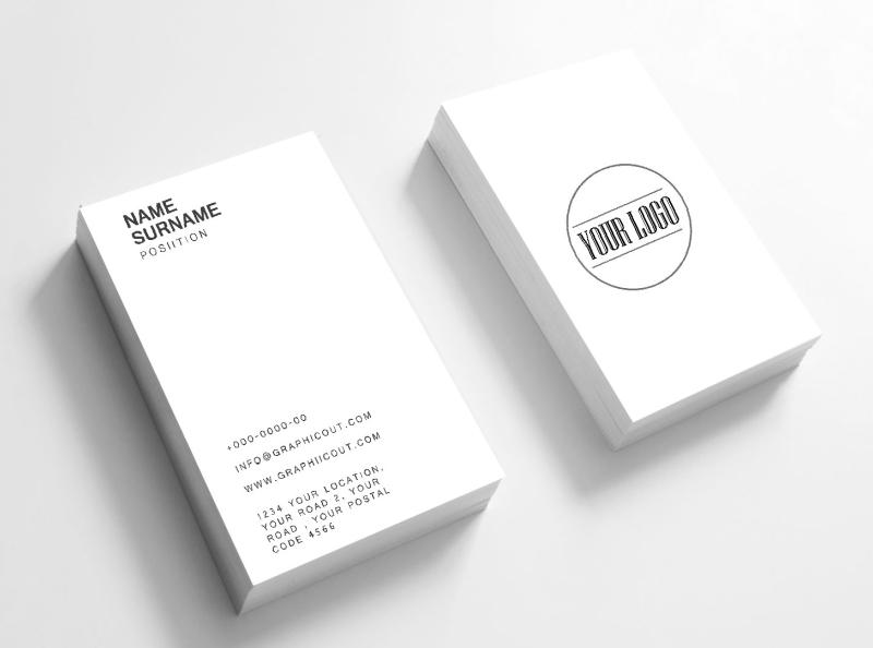 Free Minimal Business Card Mockup Template