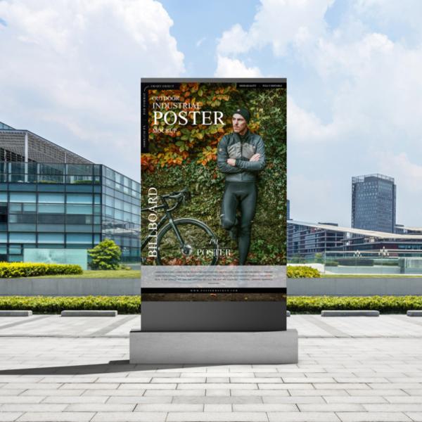 Free Outdoor Industrial Billboard Poster Mockup