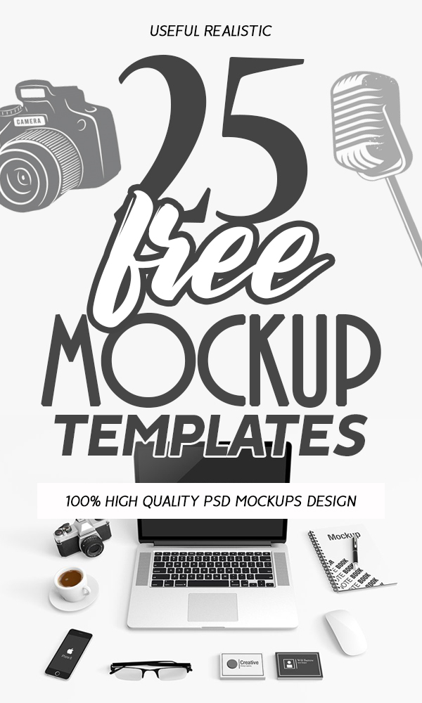 Free PSD Mockups: 25 Fresh Useful Mockup Templates