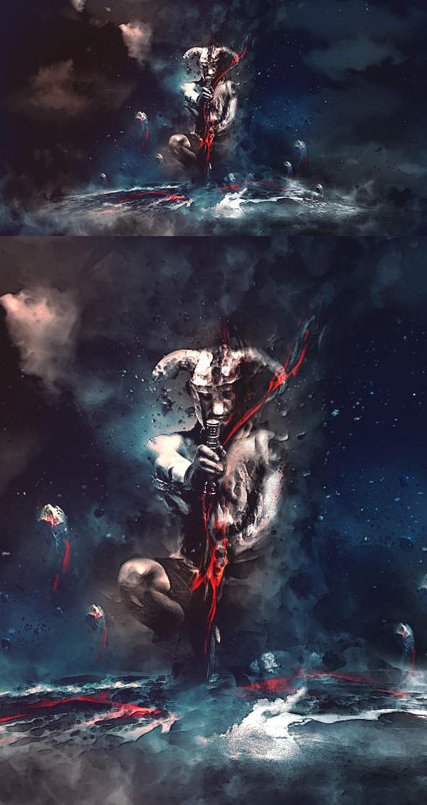 How to Create Sinister, Dark Warrior Scene in Photoshop Tutorial