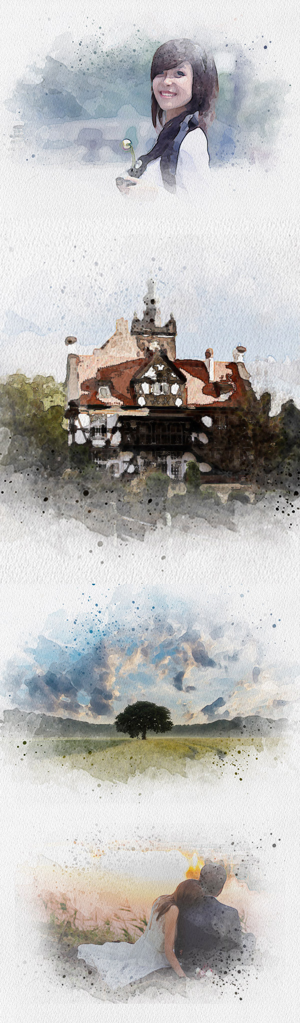 Create Artistic Watercolor Painting Effect in Photoshop