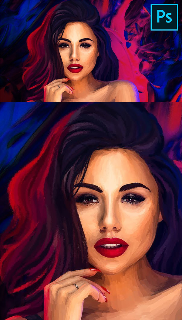 How to Make a Simple Photo into Digital Painting in Photoshop Tutorial