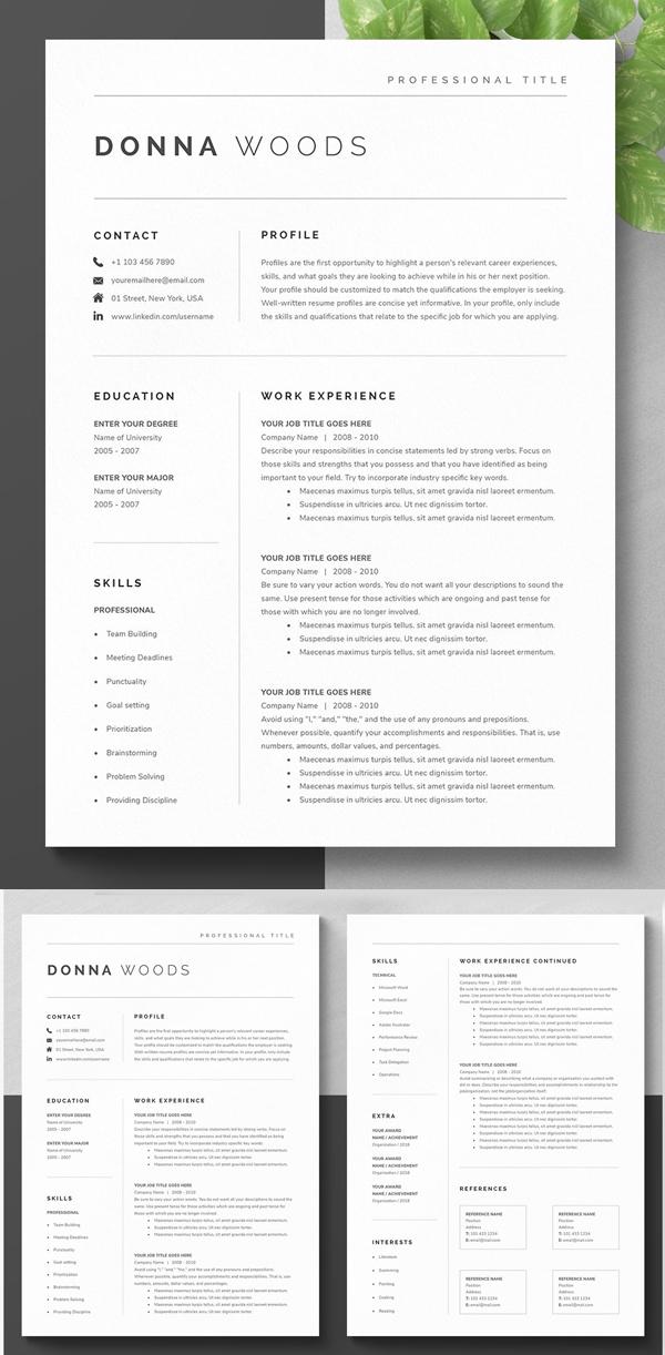 Modern Resume Template Kit