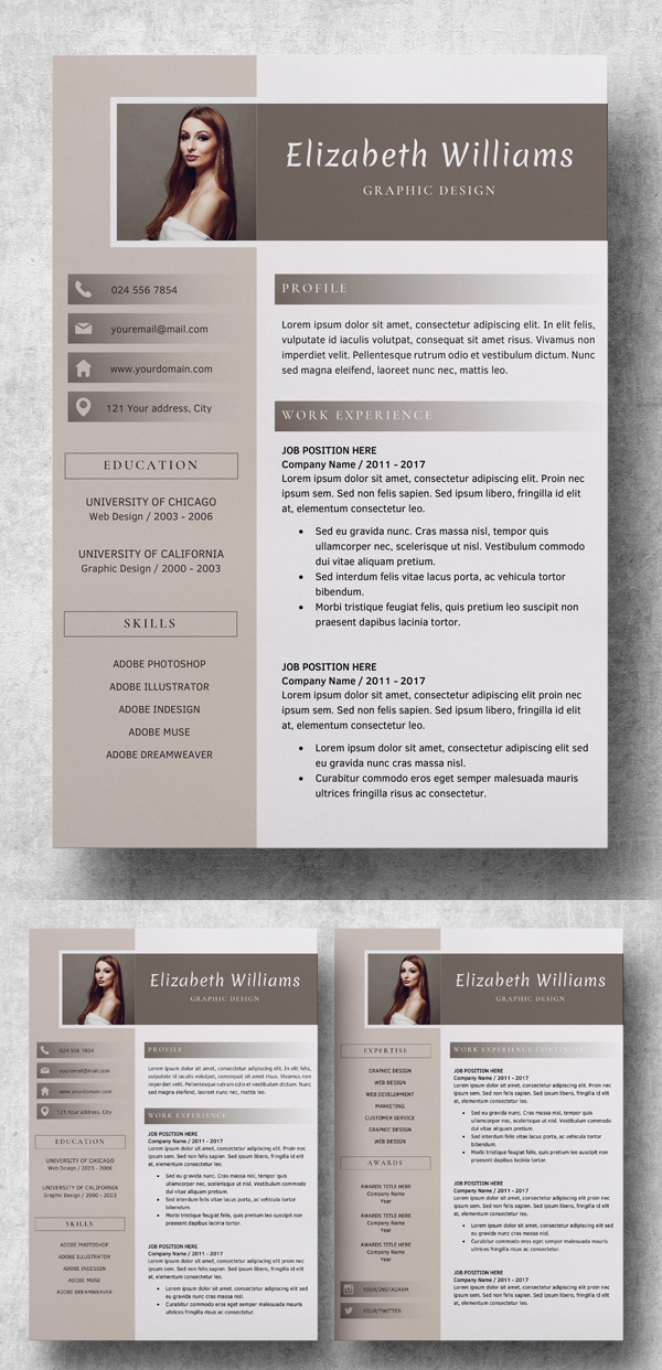 Clean Resume Template | CV + Cover Letter
