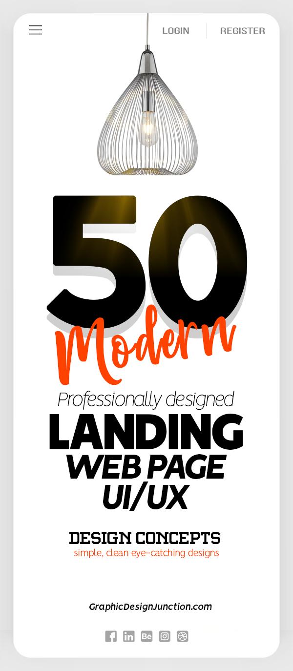 50 Modern Landing Page Design Concepts