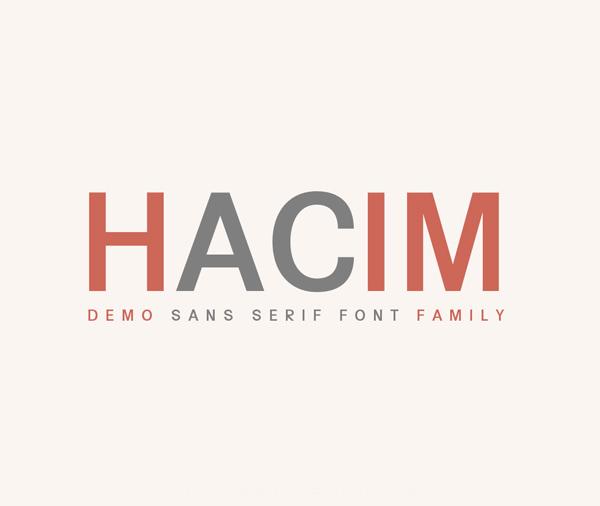 Hacim Free Font