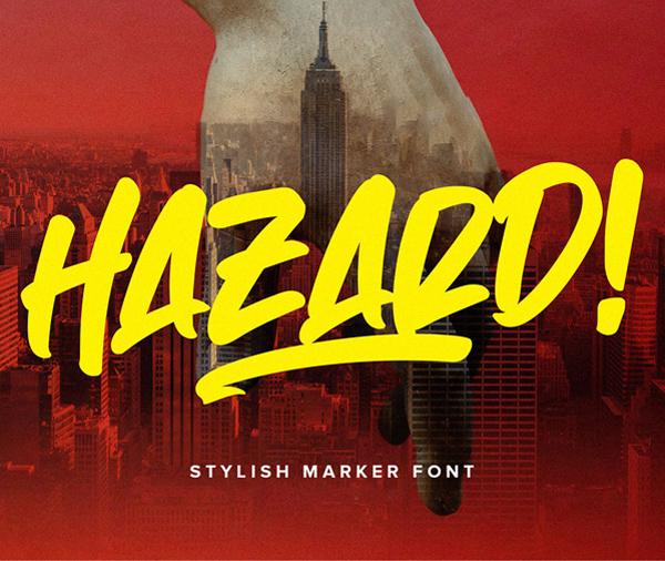 Hazard Marker Free Font