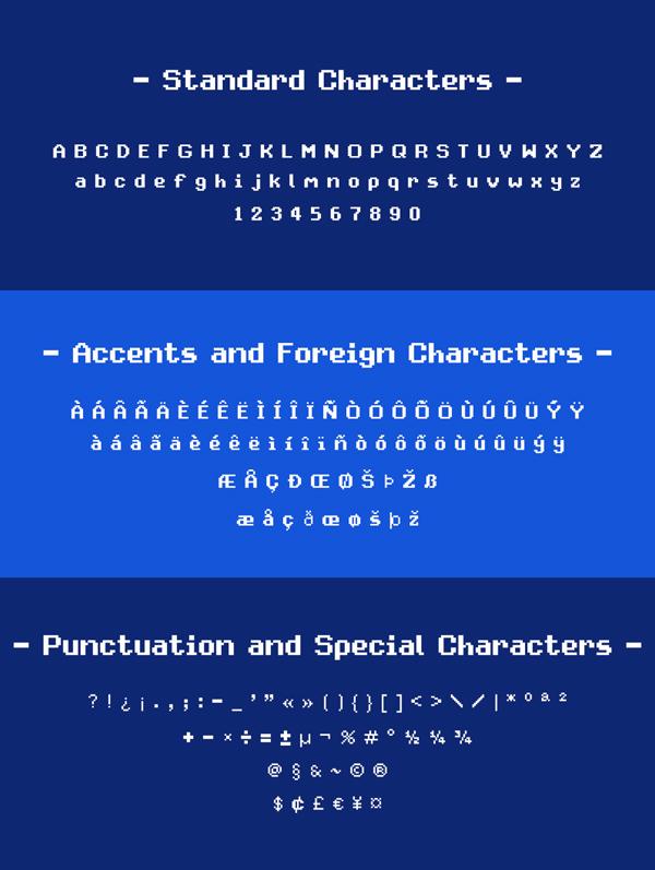 Avenixel Pixel Free Font Letters