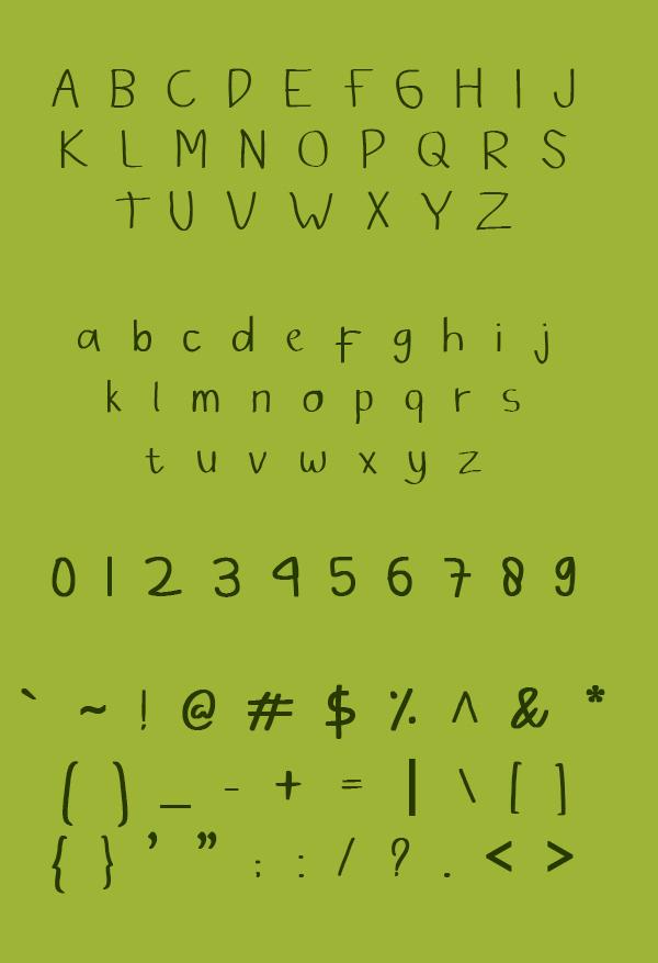 Bambu Free Font Letters