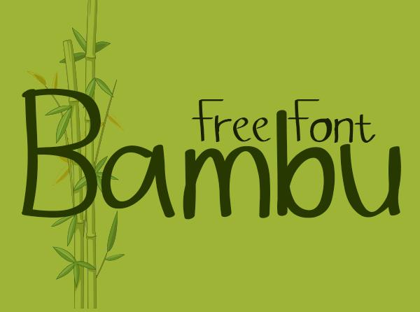Bambu Free Font
