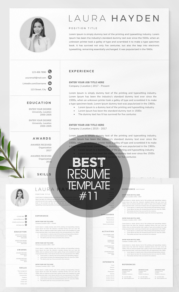 Elegant Resume Template and CV