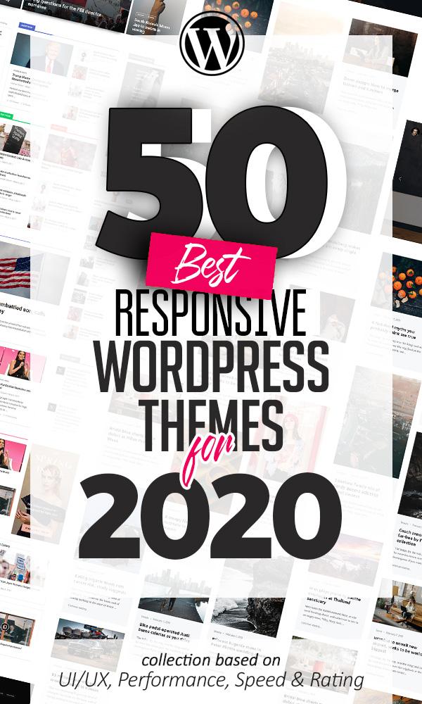 50 Best Responsive Multi-Purpose WordPress Themes For 2020
