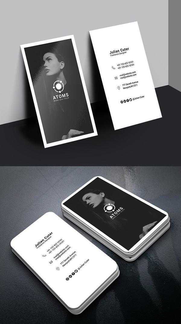 Atoms Fashion Business Card