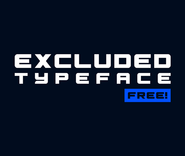 Excluded Free Font