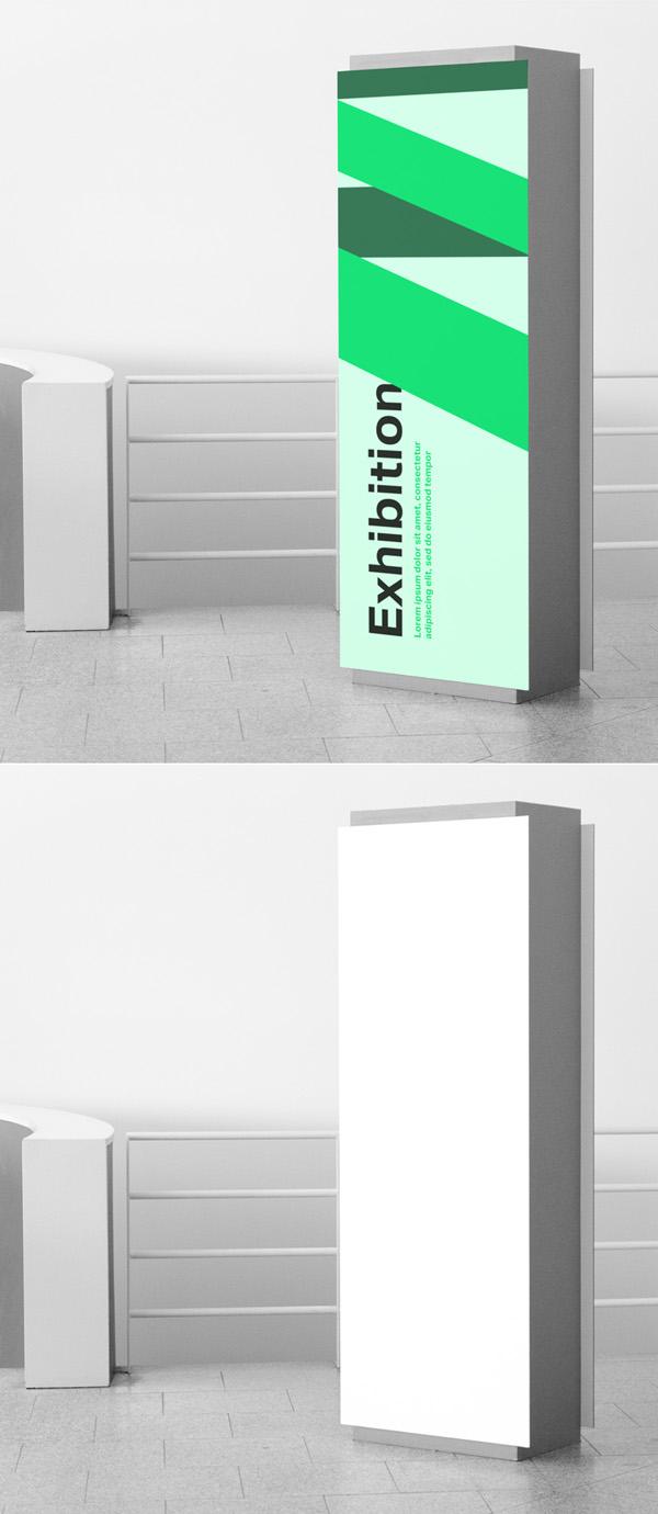 Free Indoor Signage Mockup PSD