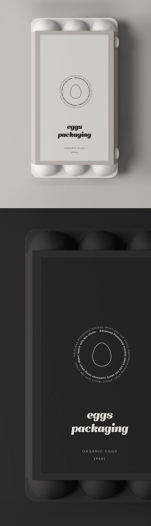 Free Egg Packaging Mockup PSD