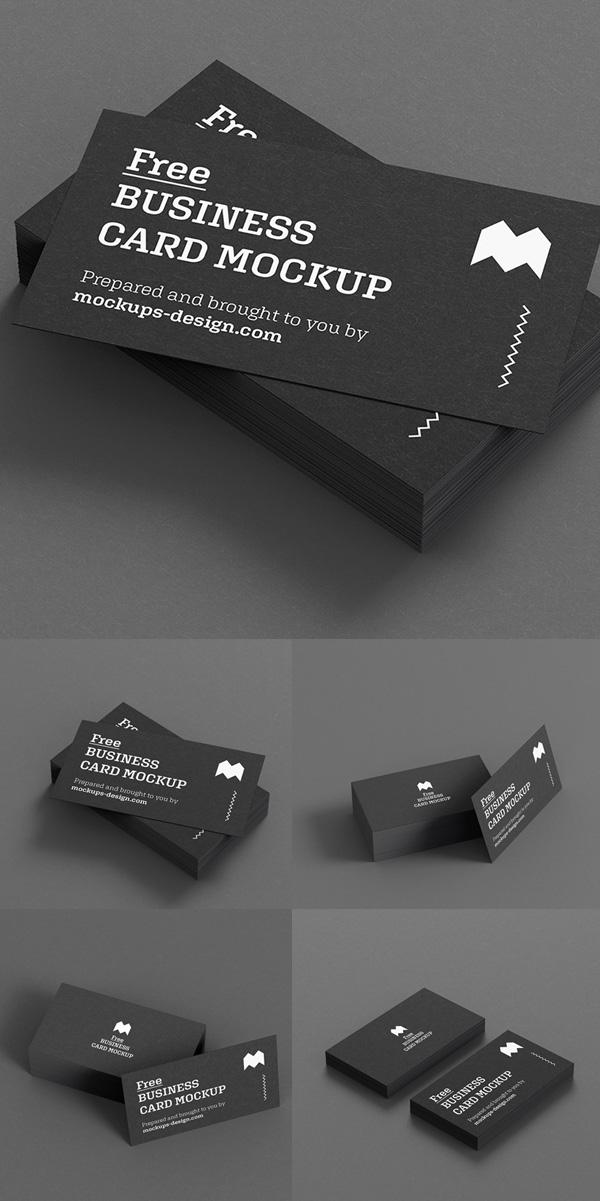 Free isometric Business Card Mockup PSD