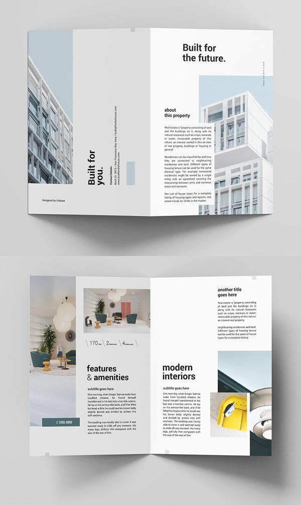 Free Real Estate Bifold Brochure Template