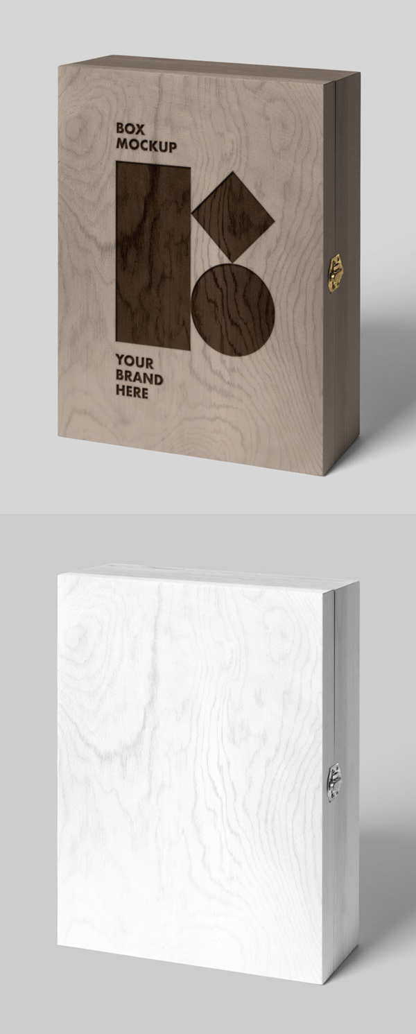 Free Wood Box Mockup