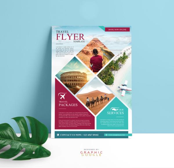 Free Modern Travel Flyer Template