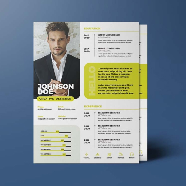 Free A4 Size Resume Template