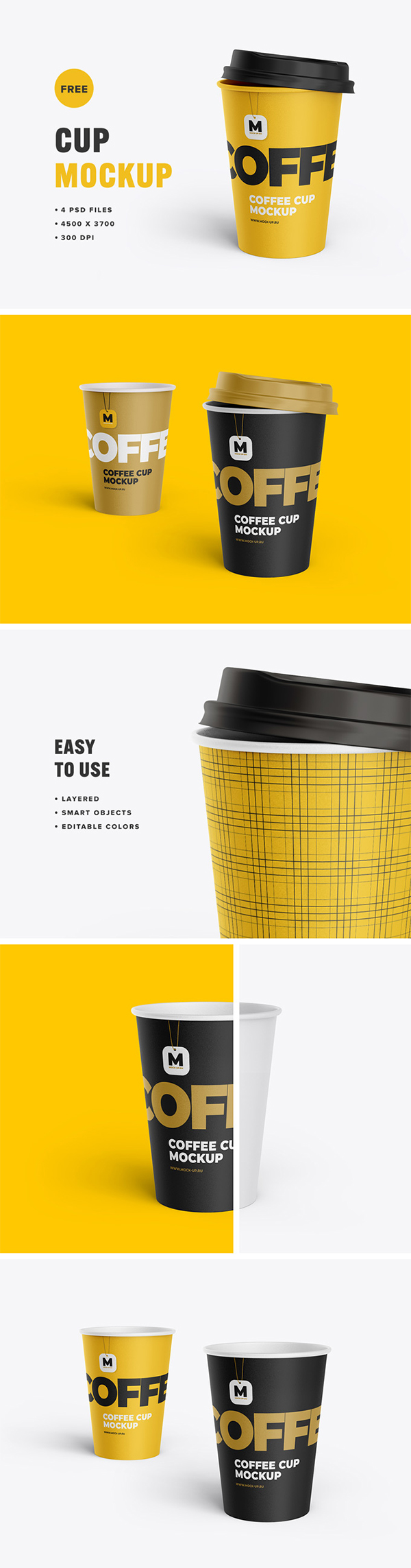 Free Tea and Coffee Cup Mockup