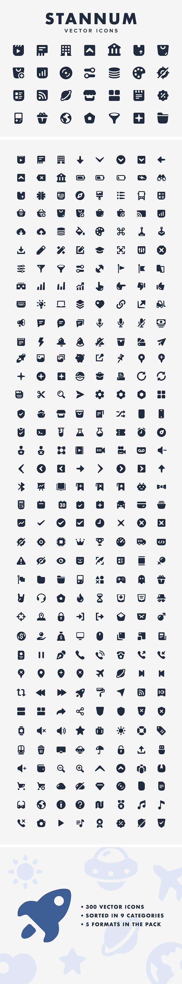 Free Stannum Vector Icons