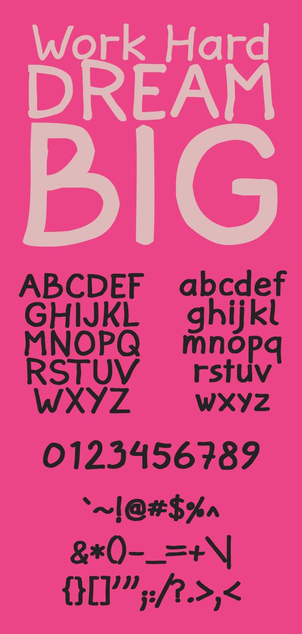 Jann Script Free Font Letters