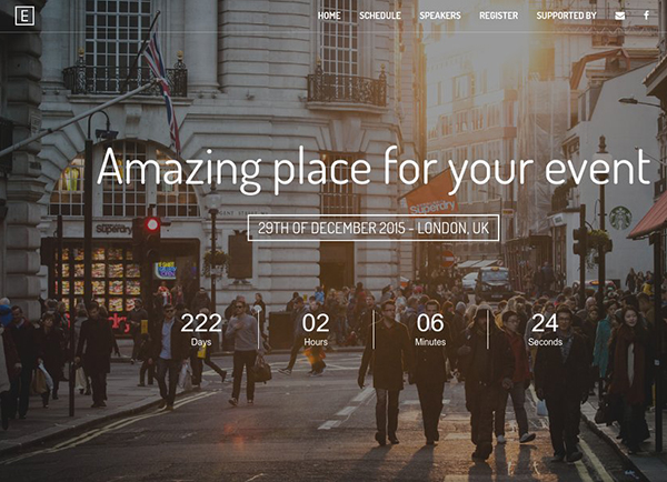 Eve - Event Landing Page