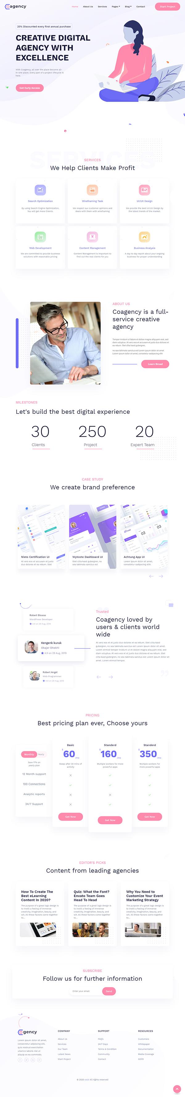 Cogency - Digital Agency Multipurpose WordPress Theme