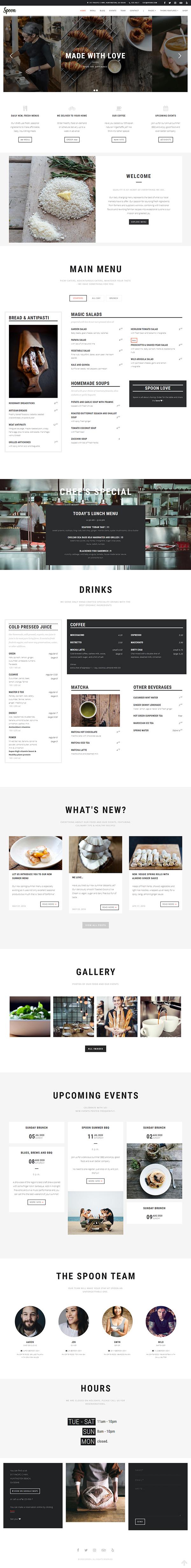Spoon – a Premium Responsive Restaurant WordPress Theme