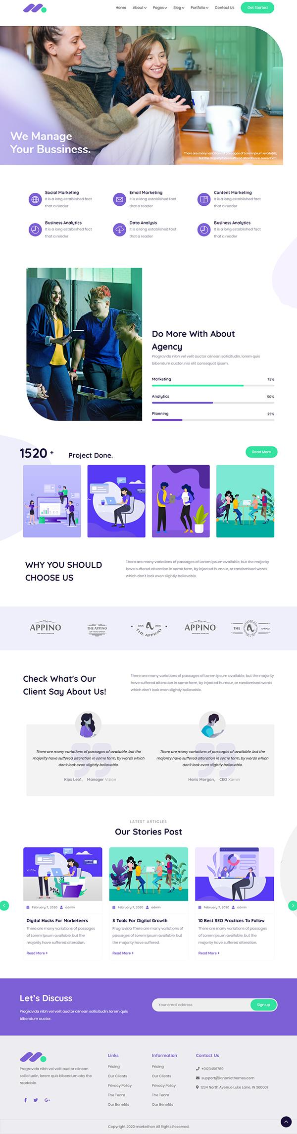 Markethon - Creative Agency & Portfolio WordPress Theme