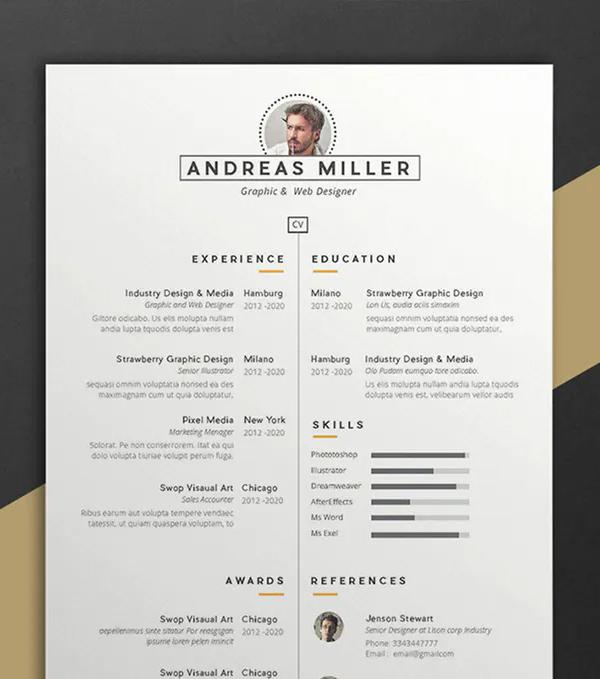 Andreas Resume CV Template